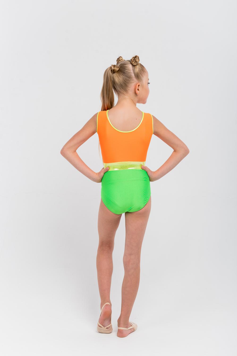 Workout Leotards, Orange Summer, pic 3