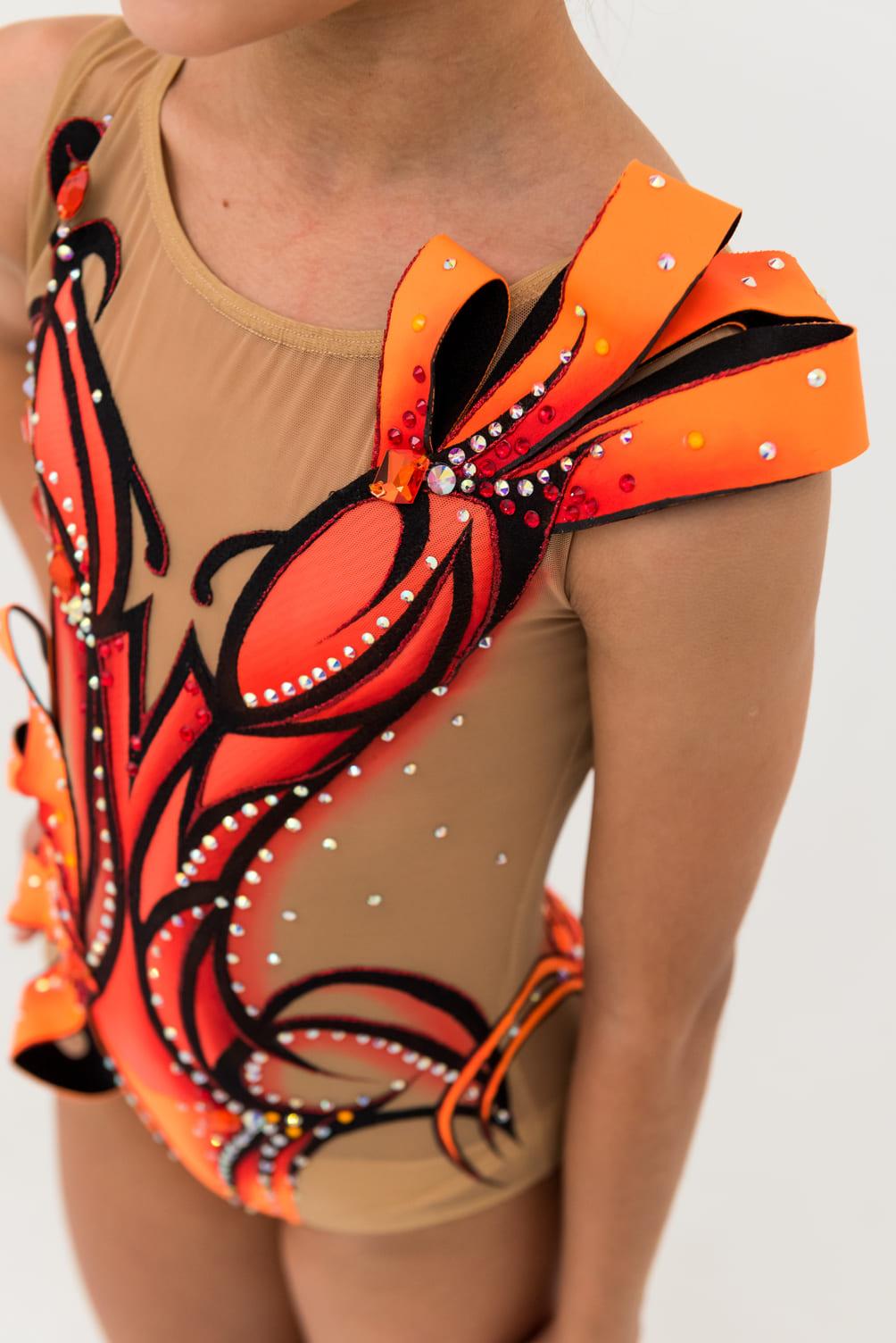 Leotards, Flower Fantasy Orange, pic 3