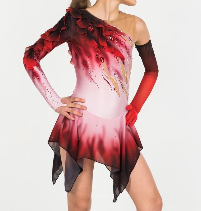 Competition Dresses, Crimson flower, pic 1