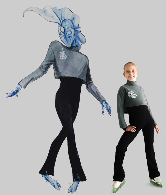 "Figure Skating Training Clothes, Figure skating shortcut bolero ""Star dust"", pic 1"